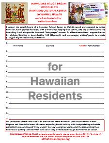 HCC Signature Drive Hawaiian Residents