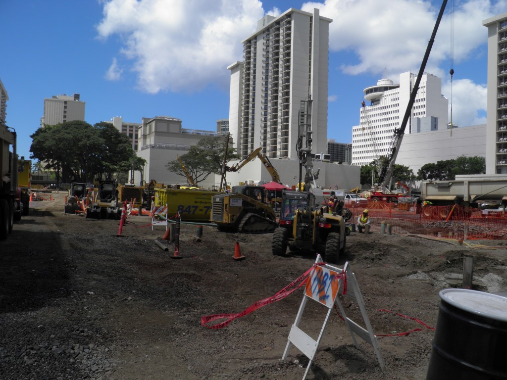 Destruction of Waikiki International Market Place