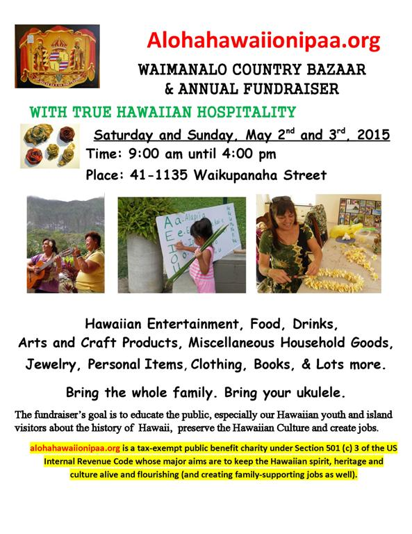 2015 Bazaar-Fundraiser